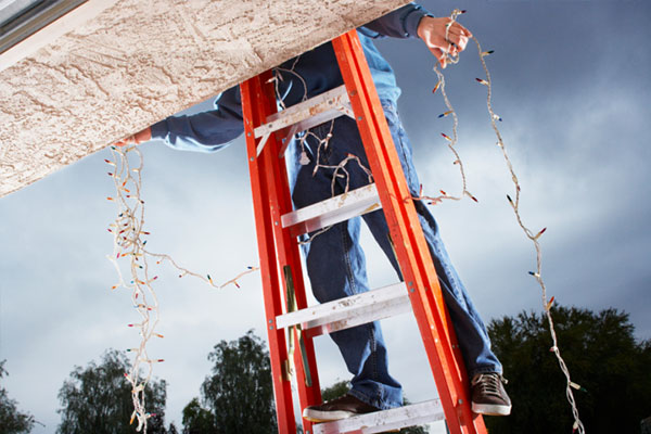 Ladder Safety Tips for Holiday Decorating